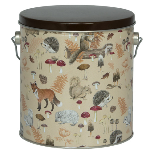 Woodland Creatures Tall Round Tin Collection
