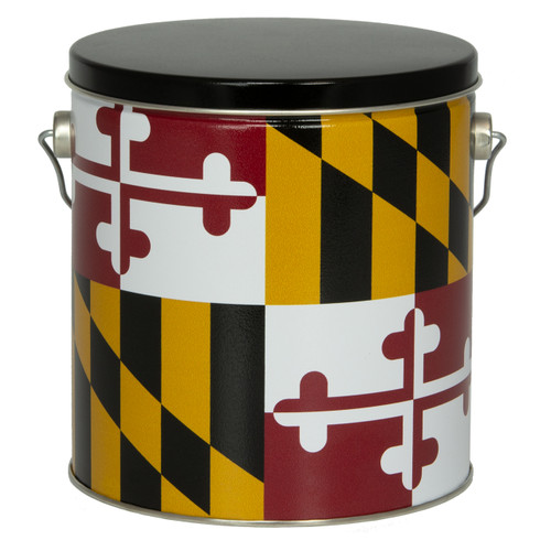 Maryland Flag Tall Round Tin Collection