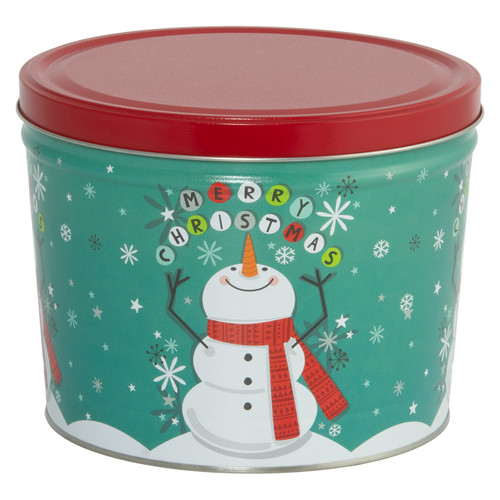 Cheery Snowman Popcorn Tin Collection