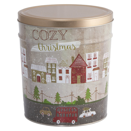 Cozy Christmas Popcorn Tin Collection
