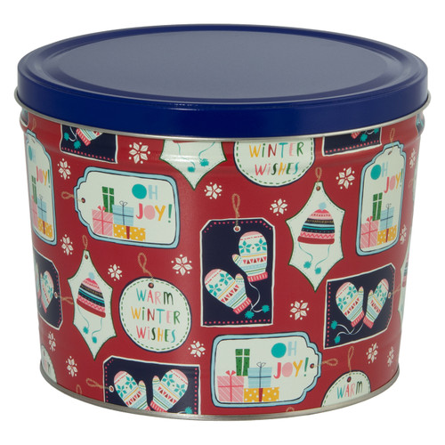 Gift Tags Popcorn Tin Collection