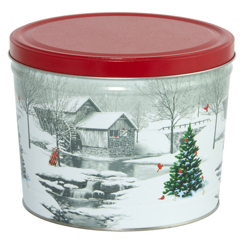 Snow Covered Mill Popcorn Tin Collection
