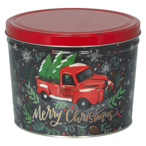 Tree Farm Truck Popcorn Tin Collection