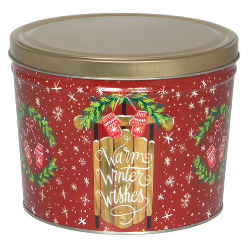 Warm Winter Wishes Popcorn Tin Collection