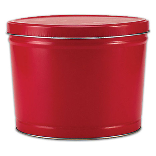 Red Solid Popcorn Tin Collection
