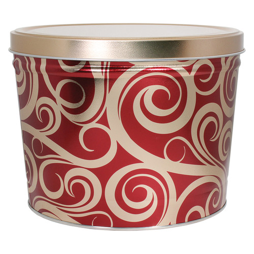 Golden Swirls Popcorn Tin Collection