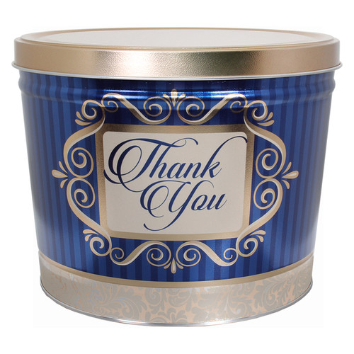 Golden Thank You Popcorn Tin Container