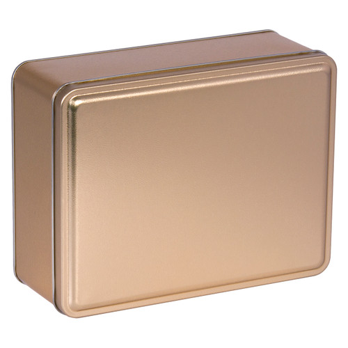 Gold Solid Rectangle Tin Collection