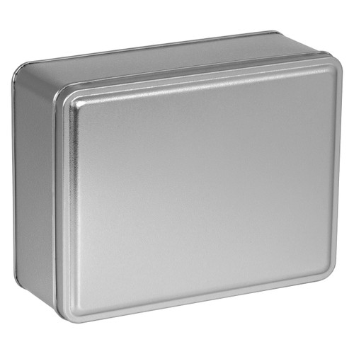 Platinum Solid Rectangle Tin Container