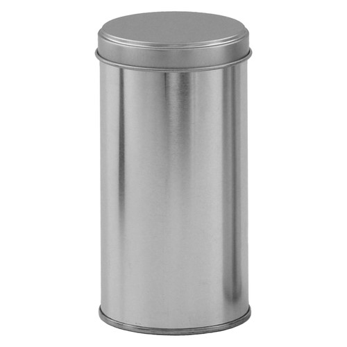 211 x 501 Platinum Tall Round Tin Container with Stacking Cover