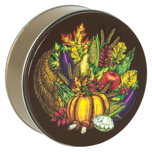 Bountiful Harvest Cookie Tin Container