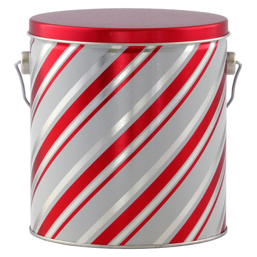 Candy Stripes Tall Round Tin Collection