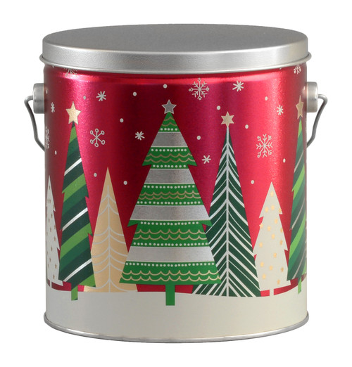 Holiday Trees Tall Round Tin Collection