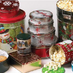 Decorative Tin Containers