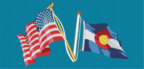 US & Colorado State Flag