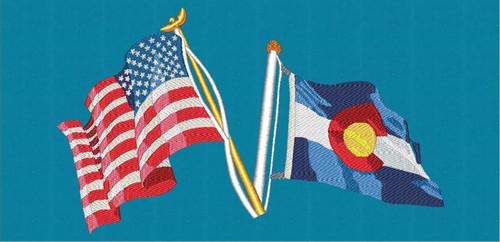 US & Colorado State Flag