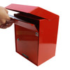 Large Outdoor Secure Payment Locking Drop Box dropping envelopes