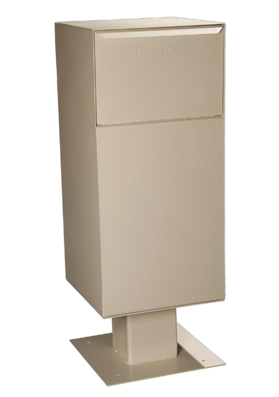 Large Parcel Locking Drop Box With Pedestal Locking