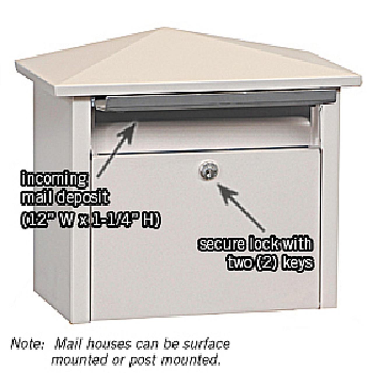Residential Wall Mounted Locking Mailbox