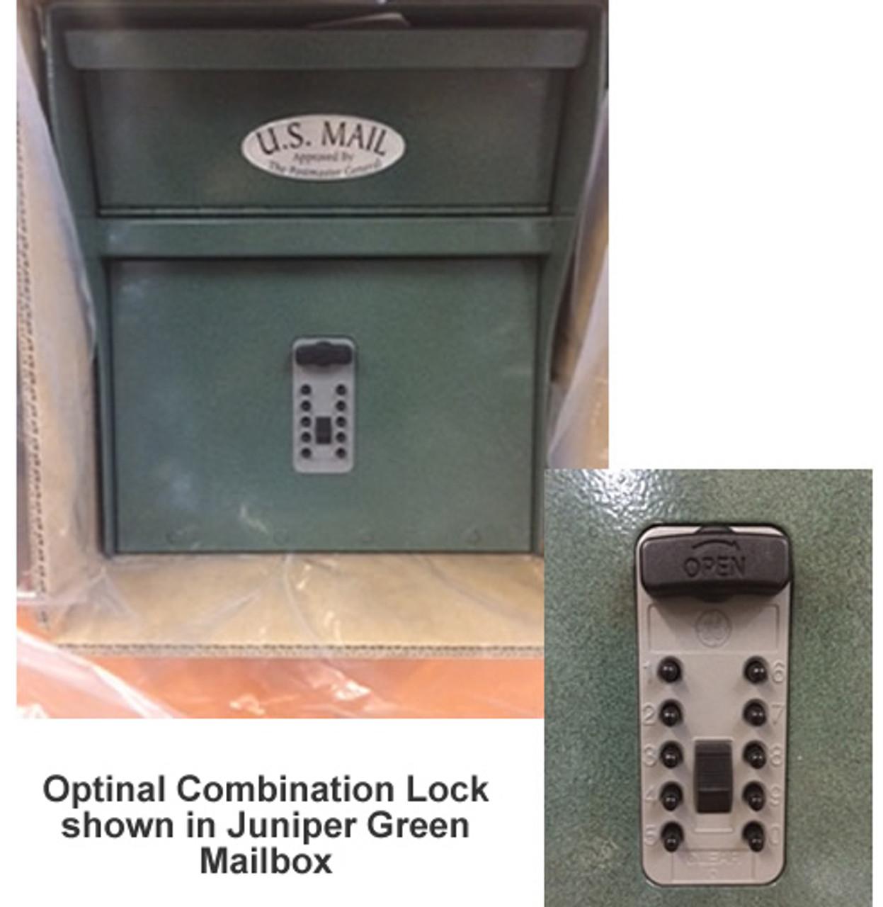 Locking Mailbox with Optional Combination Mechanical Lock ...