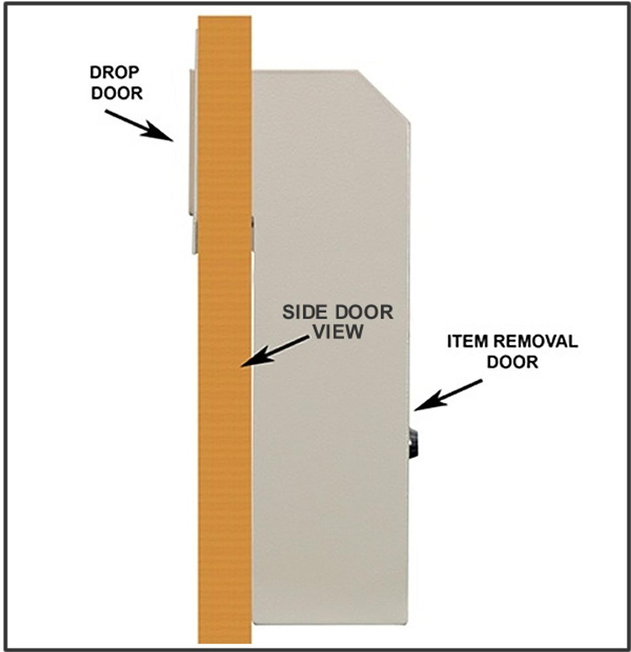 Through The Door Drop Slot with Receptacle