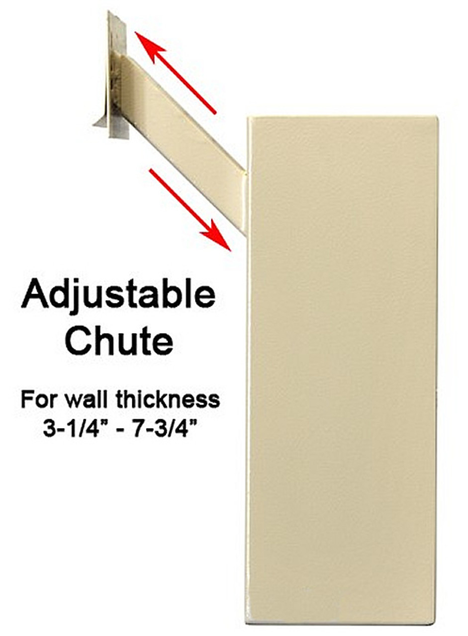 Adjustable Through the Wall Locking Drop Box Adjustable Chute