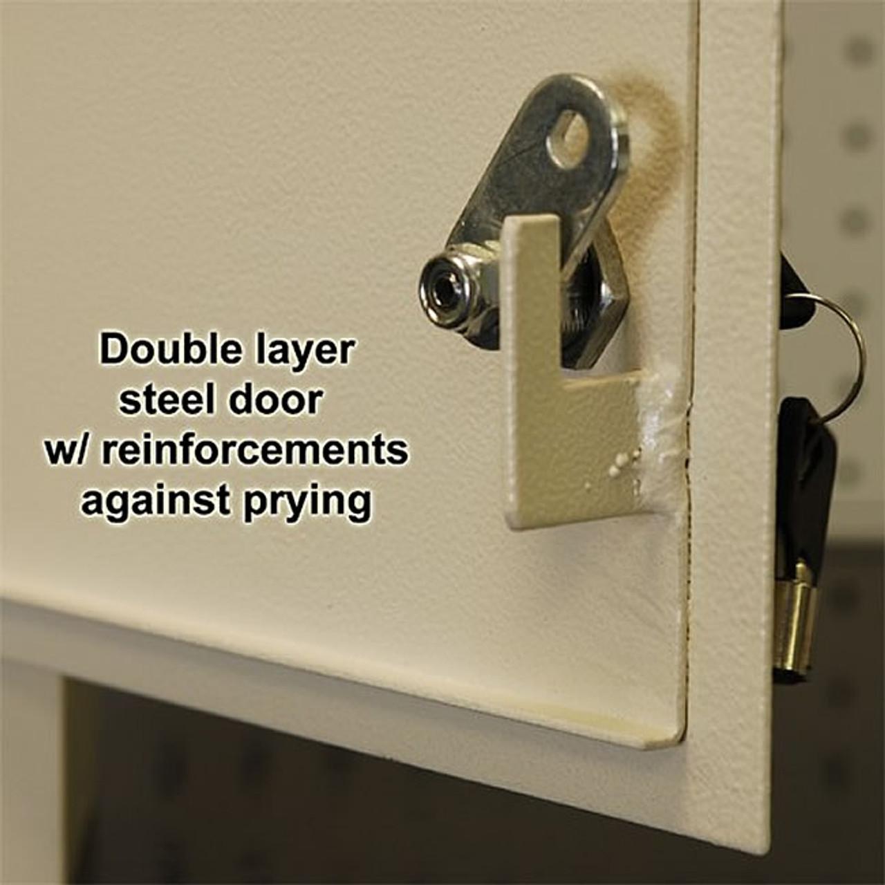 Adjustable Through the Wall Locking Drop Box secure lock