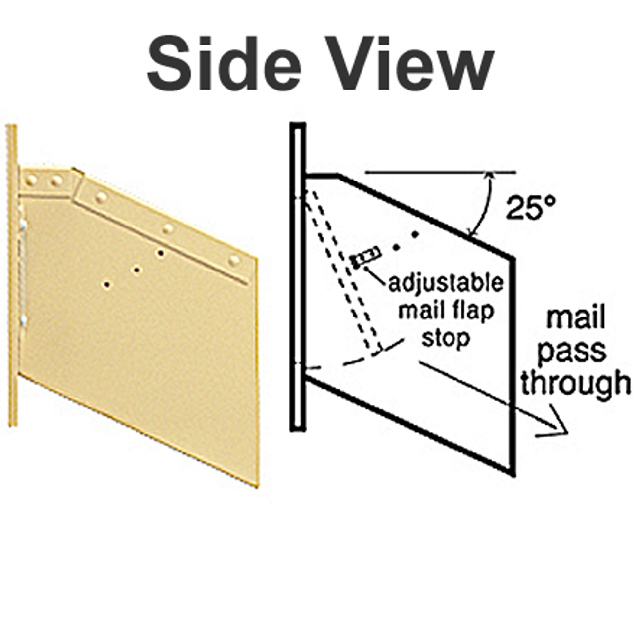 Wall Mail Drop Slot S2255 side view
