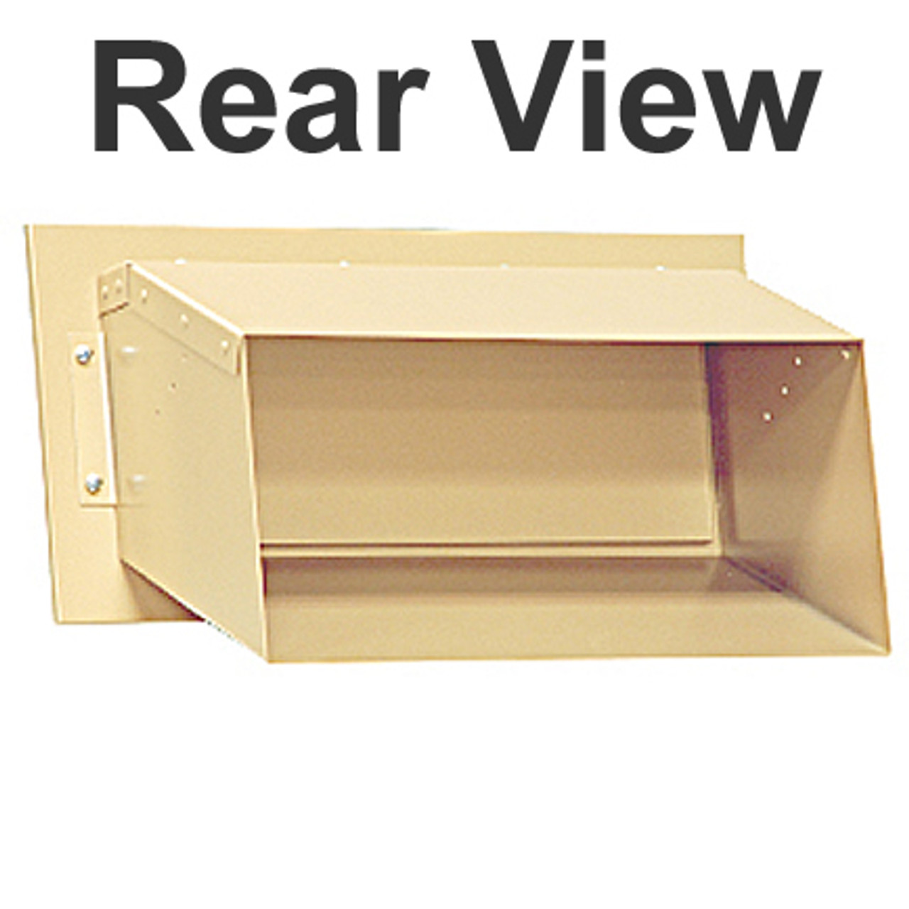 Wall Mail Drop Slot S2255 rear view