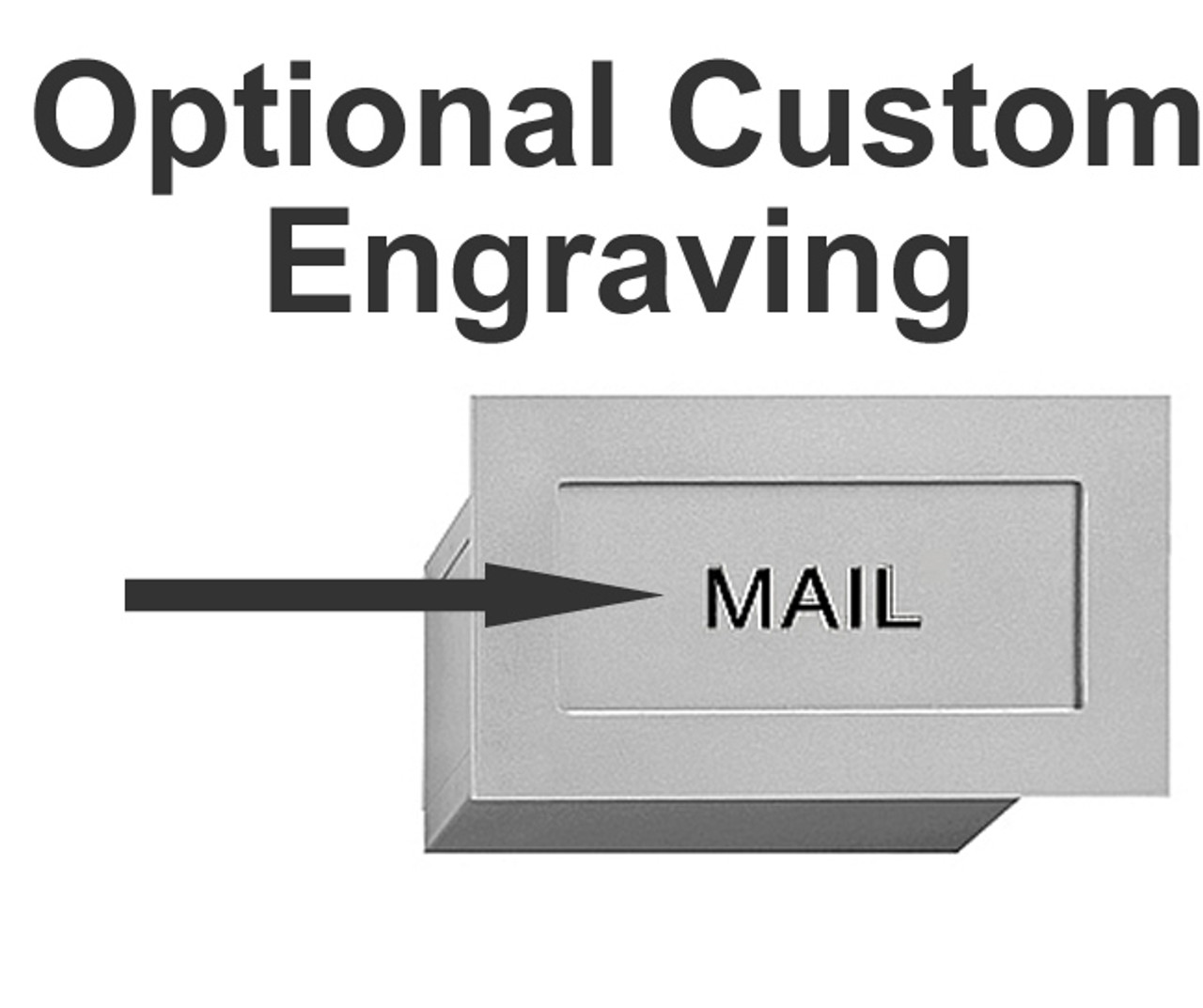 Wall Mail Drop Slot S2255 shown with engraving