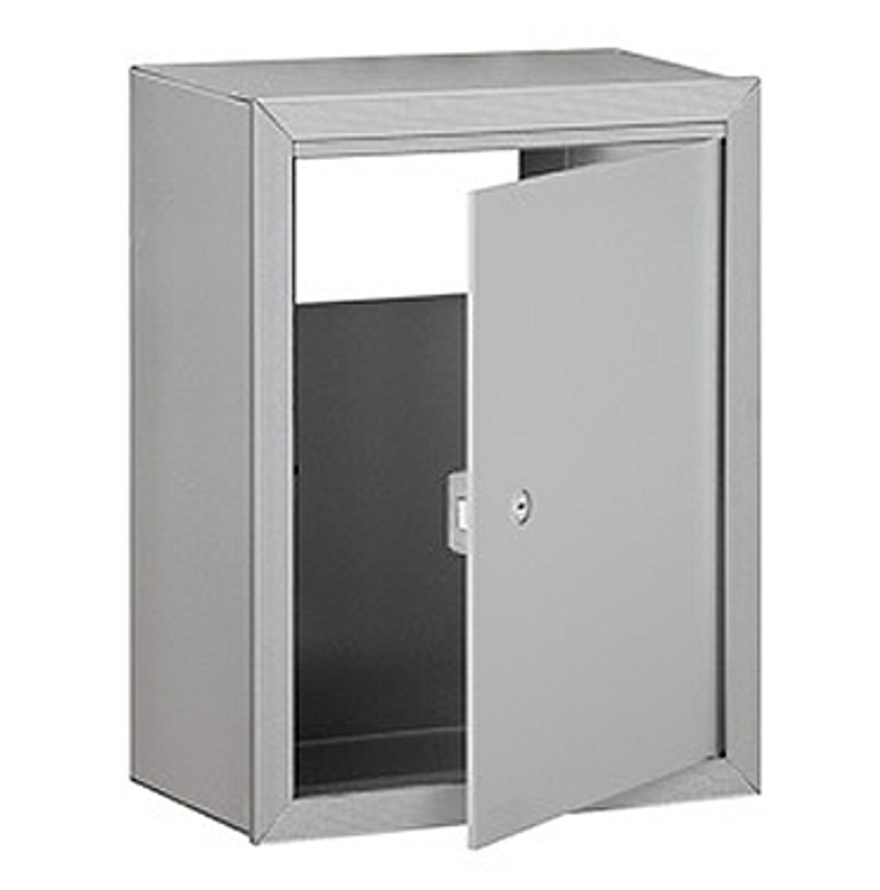 Optional Mail Slot Receptacle with door open