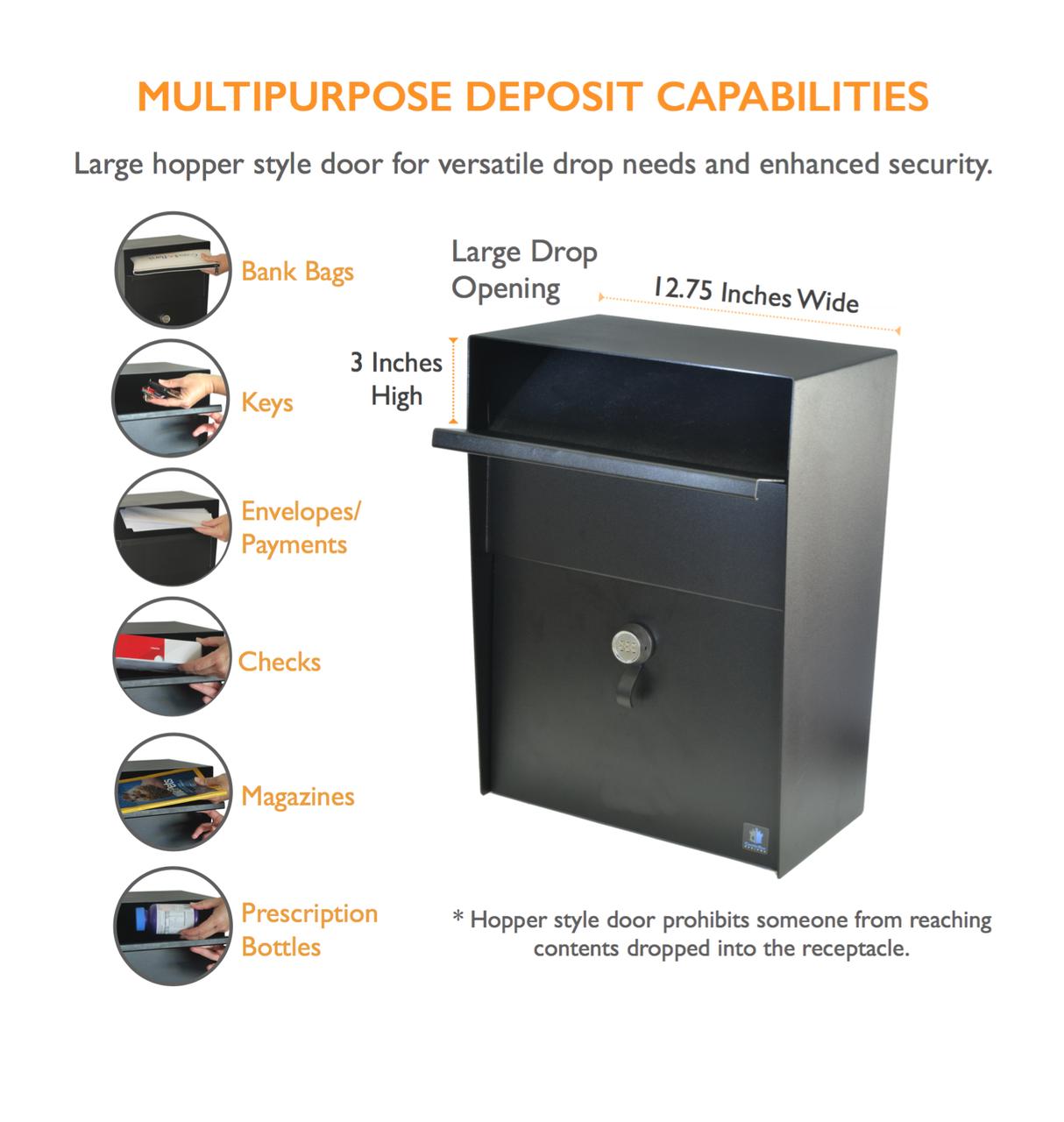 Drop Box Multipurpose Deposit Capabilities