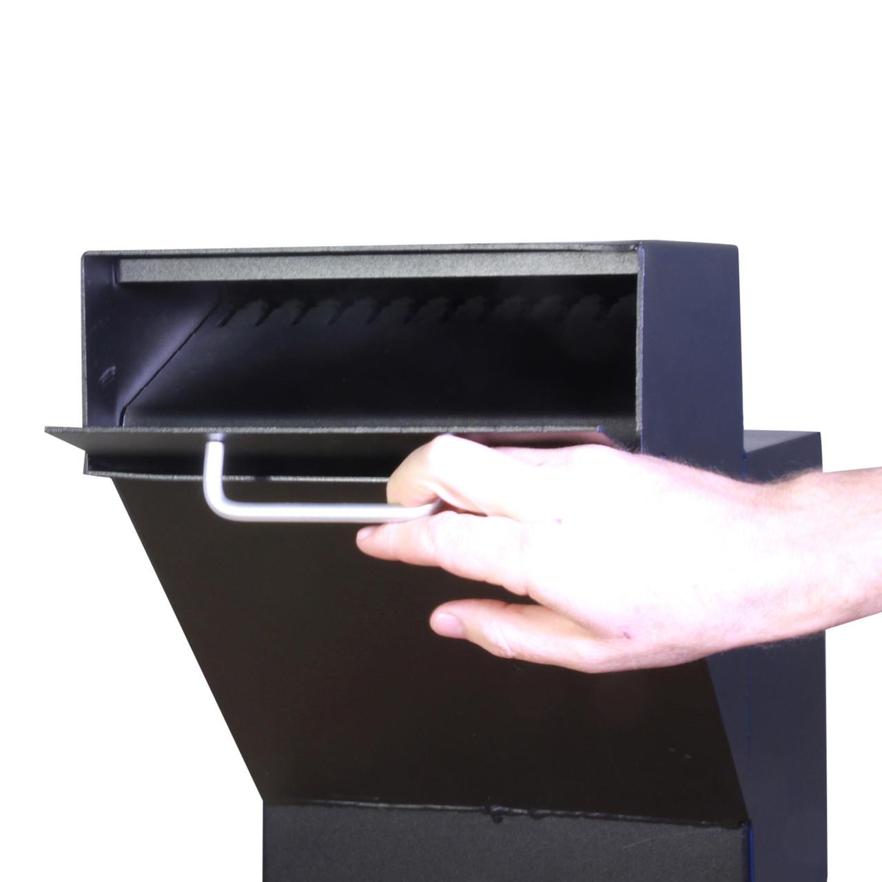 Custom Drop Box with Hopper Door open PVNDPRO903