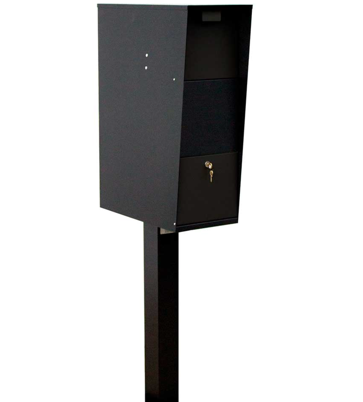 Extra Large Curbside Vacationeer Mailbox with post