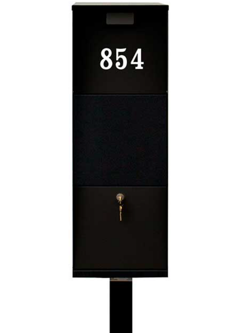 Extra Large Curbside Vacationeer Mailbox single line vinyl address numbers