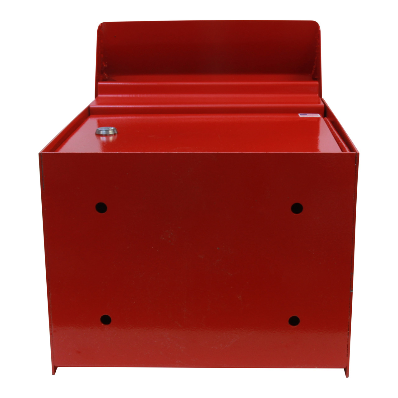 Large Outdoor Secure Payment Locking Drop Box  showing mounting holes