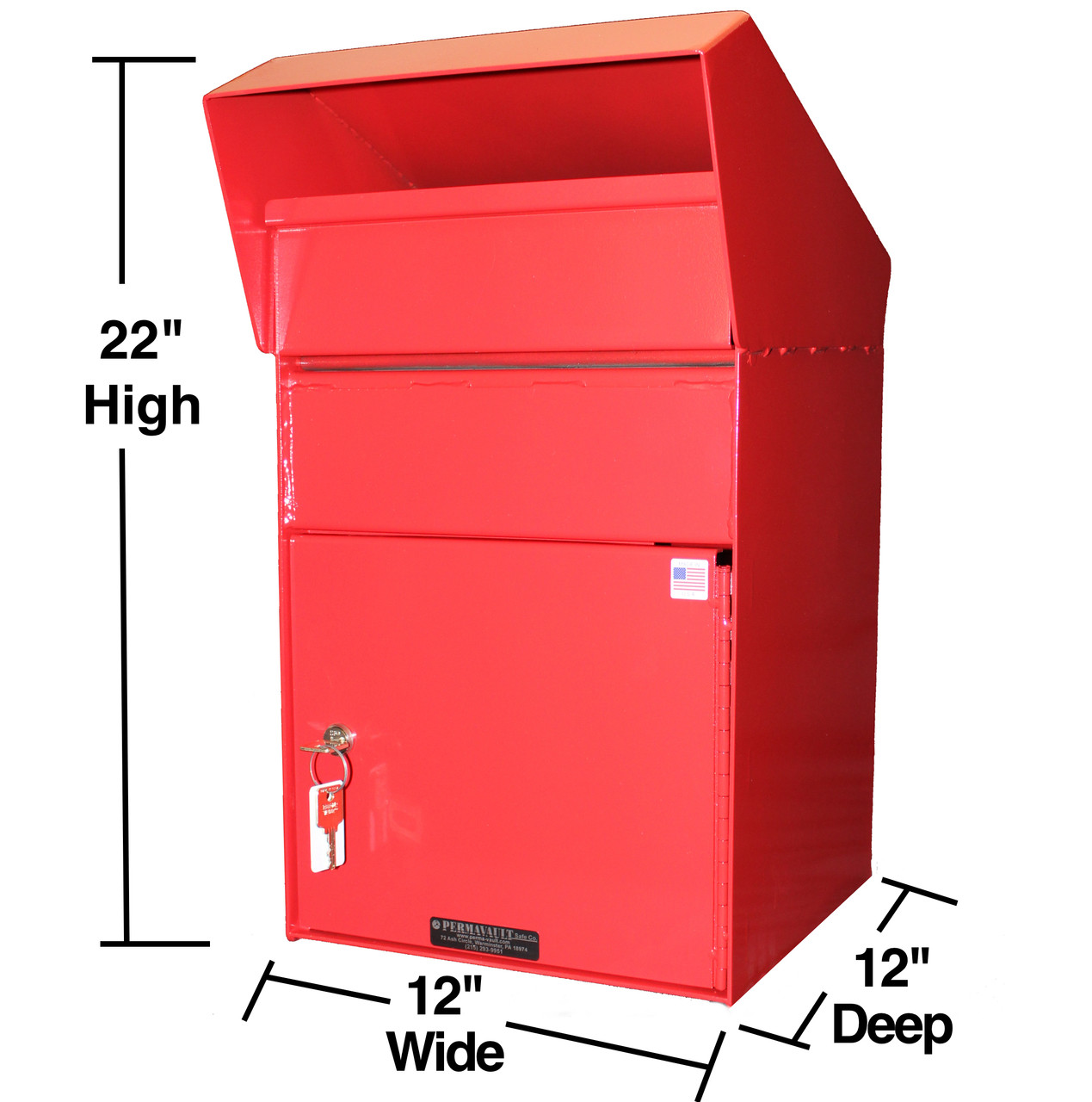 Extra Large Outdoor Secure Payment Drop Box Size
