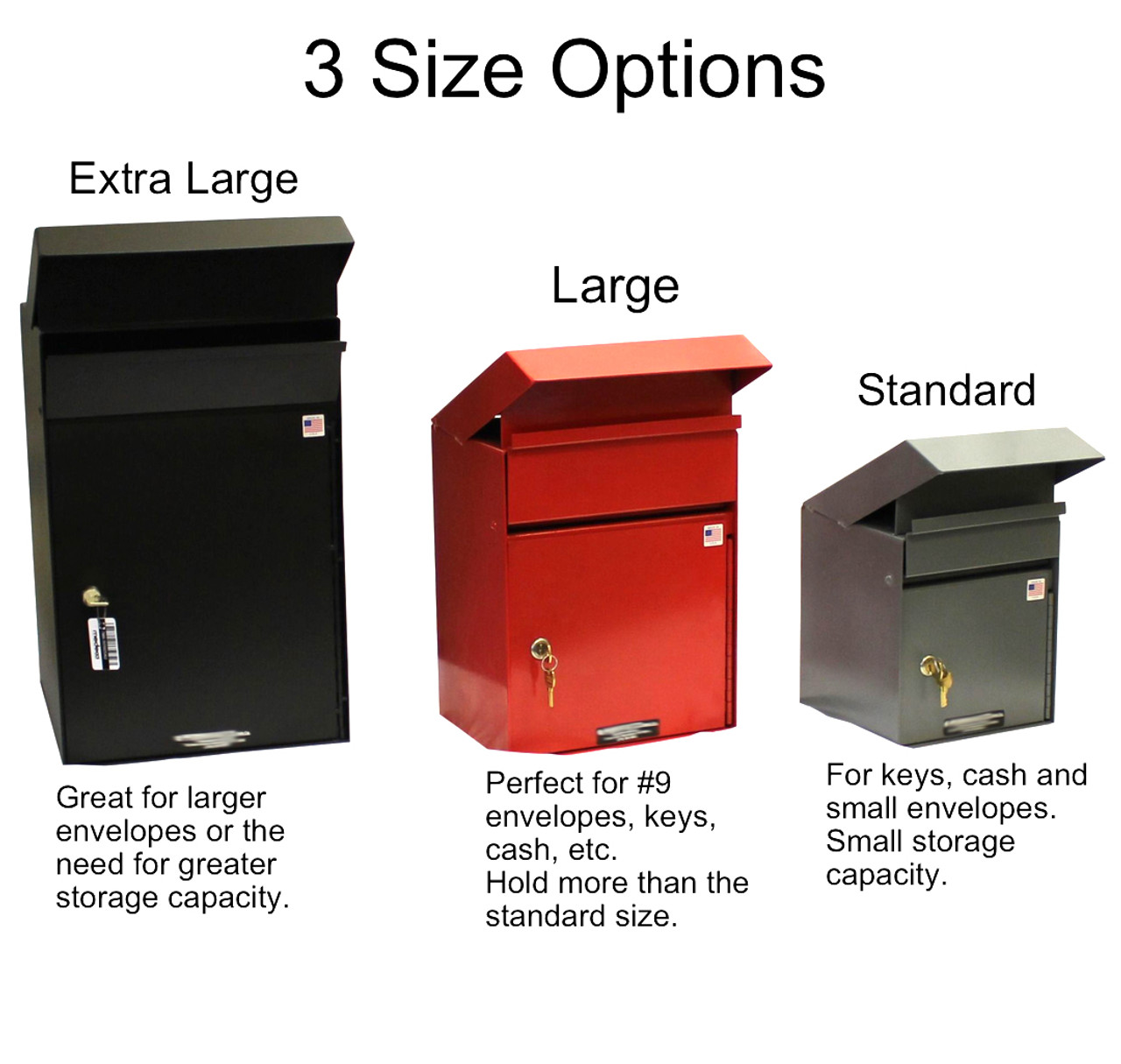 Drop Box Size Options