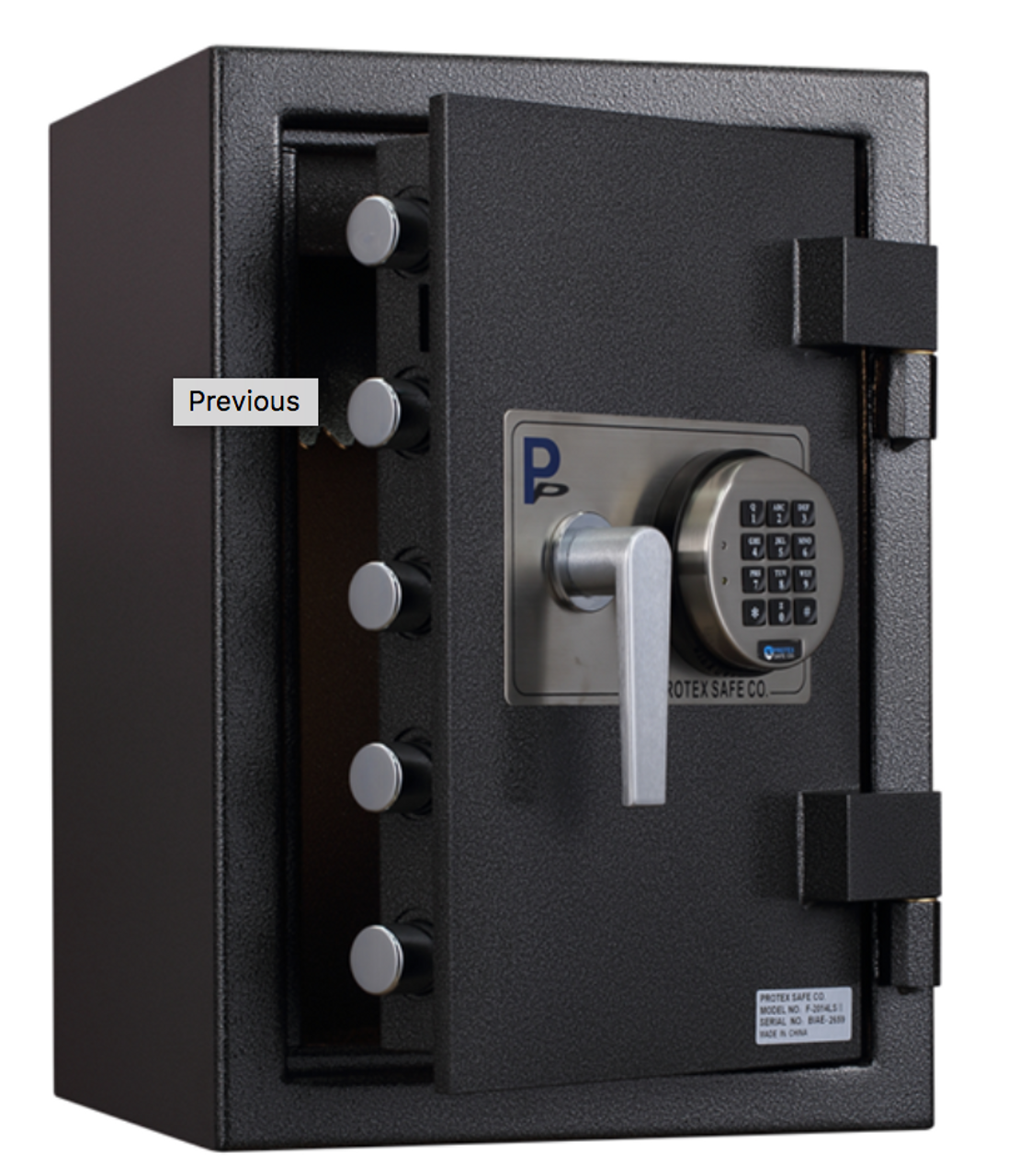 Envelope Drop Through Wall with Electronic Keypad Access with door open