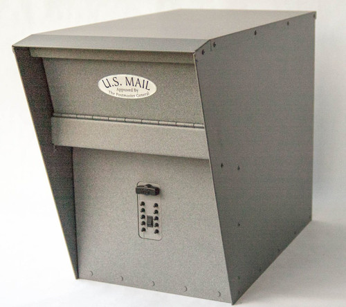 Stone Gray Locking Mailbox with Combination Lock option