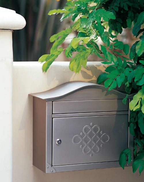 Architectural Mailboxes Peninsula Wall Mailbox Nickel Finish