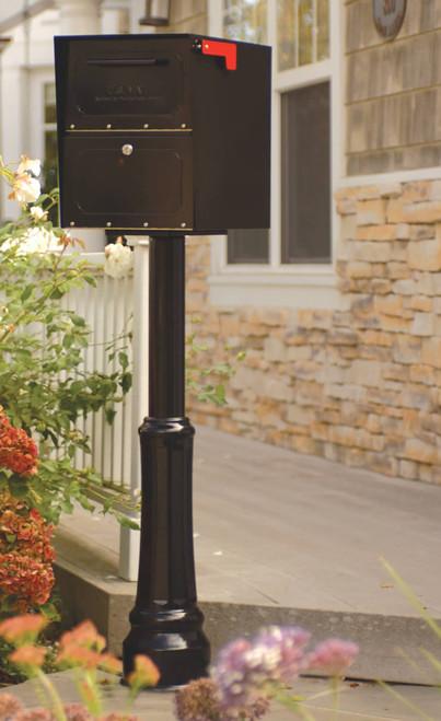 Small Black Locking Curbside Mailbox A6200Z