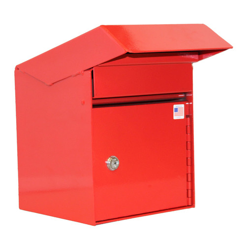 Outdoor Secure Payment Locking Drop Box shown in red