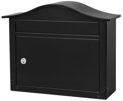 Locking Wall Mount Mailbox black