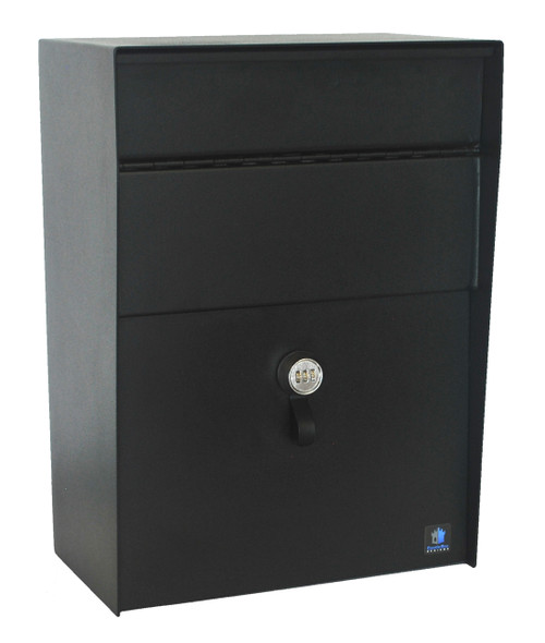 Residential mailboxes side view Metal 12 Gauge Steel Large Wall Mounted Payment Drop Box Mailbox With Combination Lock Locking Security Mailbox Wall Mounted Locking Mailboxes Home