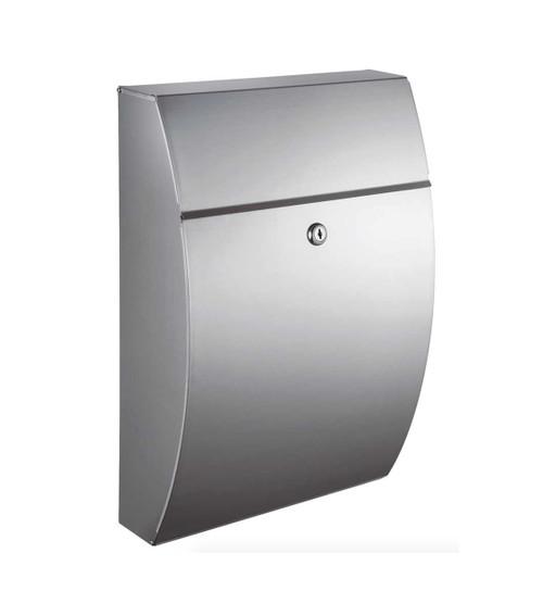 Stainless steel wall mounted locking mailbox