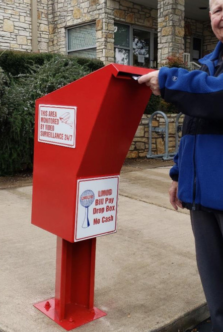Drive Up Municipal Payment Drop Box in use