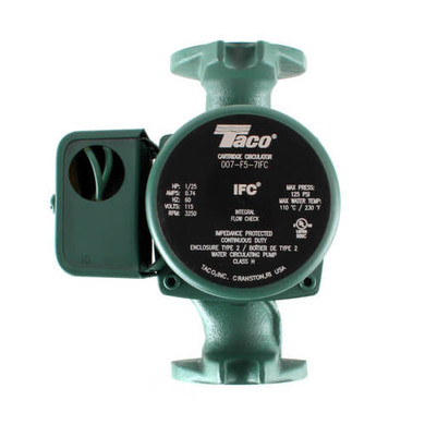 007 Cast Iron Circulator with Integral Flow Check, 1/25 HP
