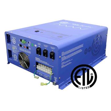 12000 Watt Pure Sine Inverter Charger - 48 Vdc / 240Vac Input & 120/240Vac Split Phase Output ETL Listed to UL 1741 / CSA