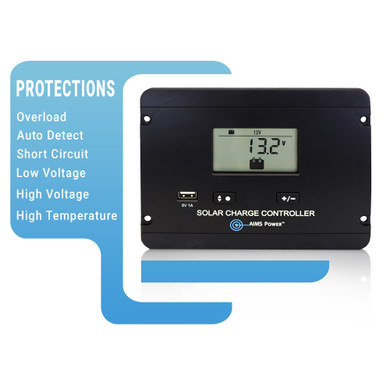 Flush Mount 30 Amp Charge Controller PWM 12/24V